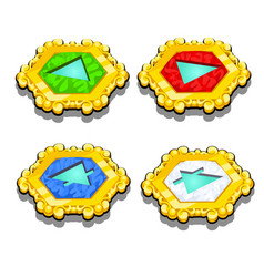 set of chips with symbols of elements isolated on vector image