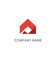 shape realty triangle logo vector image