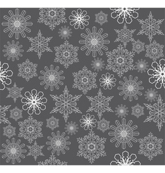 snowflake background silver vector image