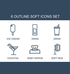 soft icons vector image