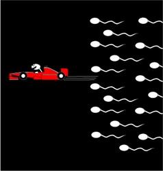 Speed spermatozoon vector image
