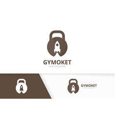 Sport and rocket logo combination gym and vector