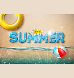 summer with beach ball and vector image