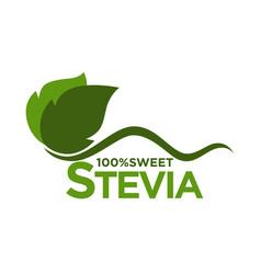 Sweet tevia emblem vector