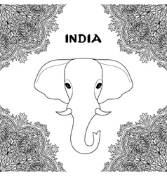 Symbol of India Elephant vector
