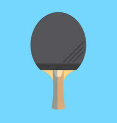 Table tennis or ping-pong racket isolated vector