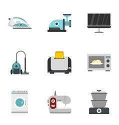 Technique icons set flat style vector