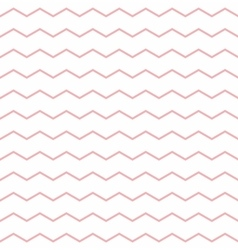 Tile pattern with pink zig zag on white background vector image