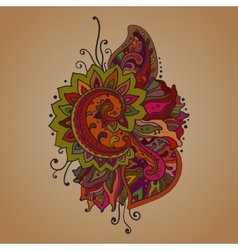 Traditional oriental floral ornament with a vector image
