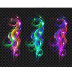 Translucent colored smokes vector