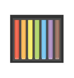 wax colorful crayons blue green yellow orange vector image