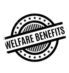 Welfare Benefits rubber stamp vector
