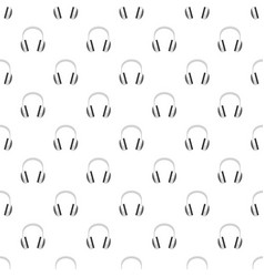 wired headphones pattern seamless vector image