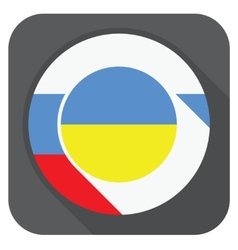 - ukraine and russia flags one inside anothe vector image