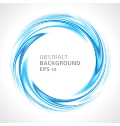 Abstract blue swirl circle bright background vector image vector image