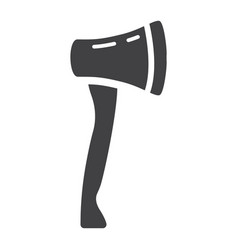 axe glyph icon build and repair tool sign vector image