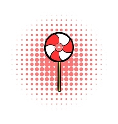 Candy comics icon vector image