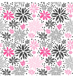 Cute pink seamless floral background vector image