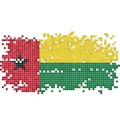 Guinea-Bissau grunge tile flag vector image vector image