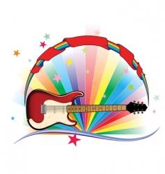 guitar light vector image