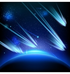 Make a wish on this shooting stars eps 10 vector