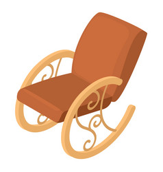 rocking chair icon isometric 3d style vector image