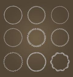 set wreaths vector image vector image