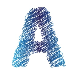 sketched letter A vector image vector image