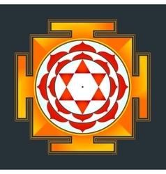 colored Bhuvaneshwari yantra vector image vector image