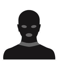 Criminal in mask vector