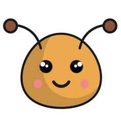 cute bee kawaii style vector image