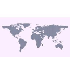 Grey political world map vector