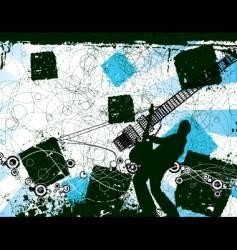 grunge rocker illustration vector image