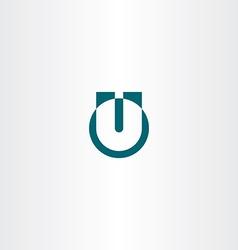 letter icon u logotype logo u symbol vector image vector image