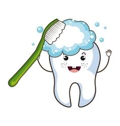Medical dental care cartoon theme design vector image