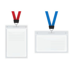 Plastic ID Badges vector image