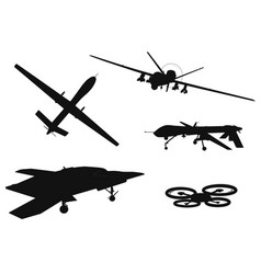 weapon drones set vector image vector image