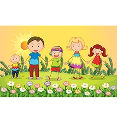 cartoon Smiling kids vector image vector image