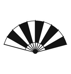 Chinese fan icon simple style vector