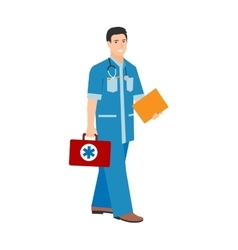 Family doctor character isolated vector image vector image