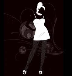 sexy fishnets girl illustration vector image
