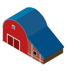 3d design for red barn vector image