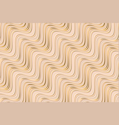 Abstract beige waves geometric seamless pattern vector
