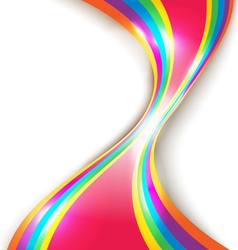Abstract design with multicolored lines vector