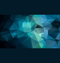 Abstract irregular polygon background turquoise vector