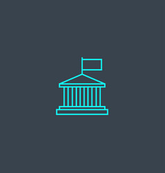 authority concept blue line icon simple thin vector image