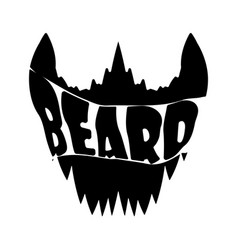 beard shirt design vector image
