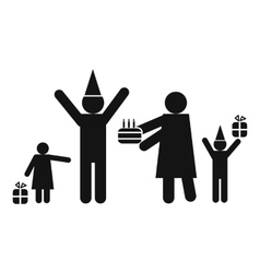 Birthday in family icon vector
