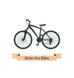 Black bike vector
