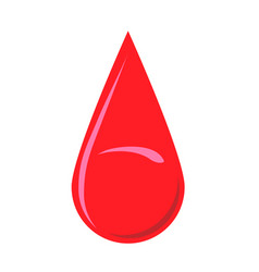 blood drop donation logo image vector image